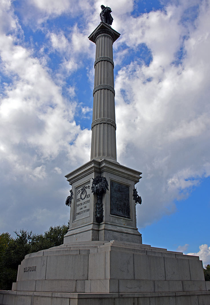 John C. Calhoun monument at Marion Square in Charleston, SC