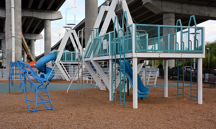 A playground at Waterfront Memorial Park in Mt. Pleasant, SC