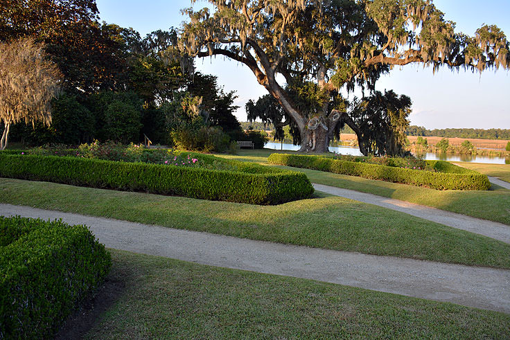 Formal garden at Middleton Place Plantation in Charleston, SC