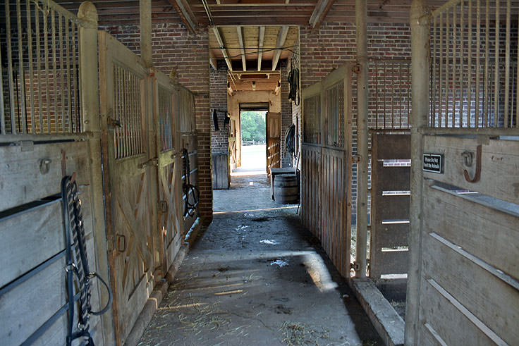 The horse stables at Middleton Place Plantation in Charleston, SC