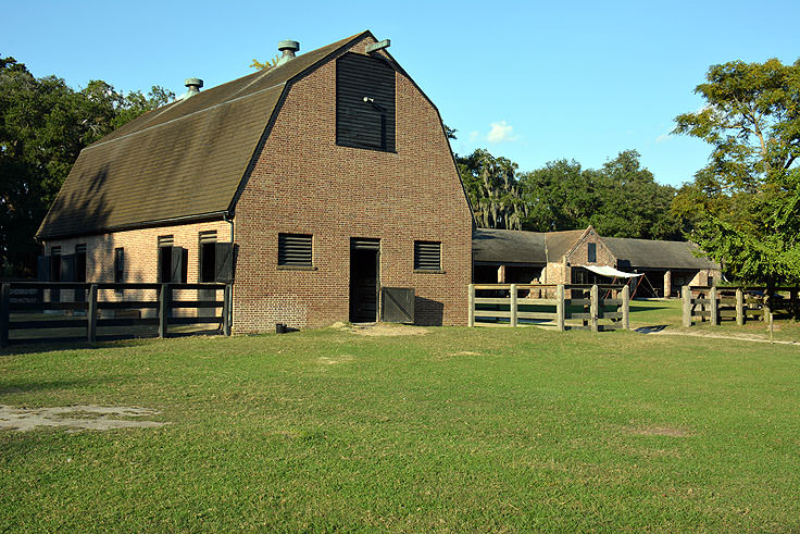 horse stables at Middleton Place Plantation in Charleston, SC