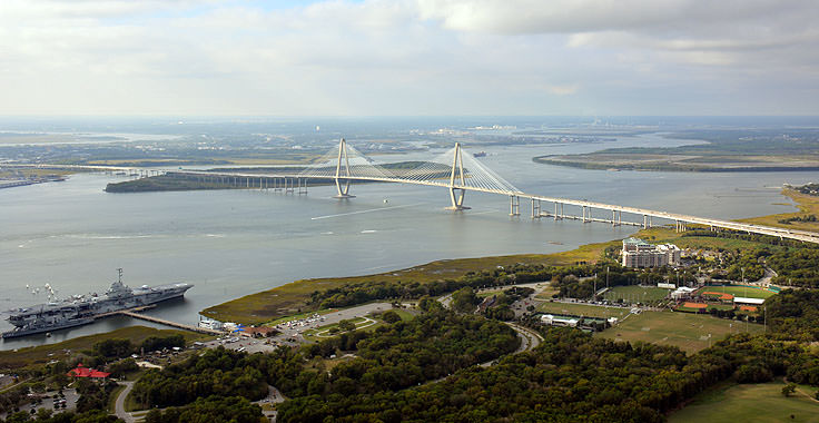 The Arthur J. Ravenel Bridge from Mt. Pleasant to Charleston, SC
