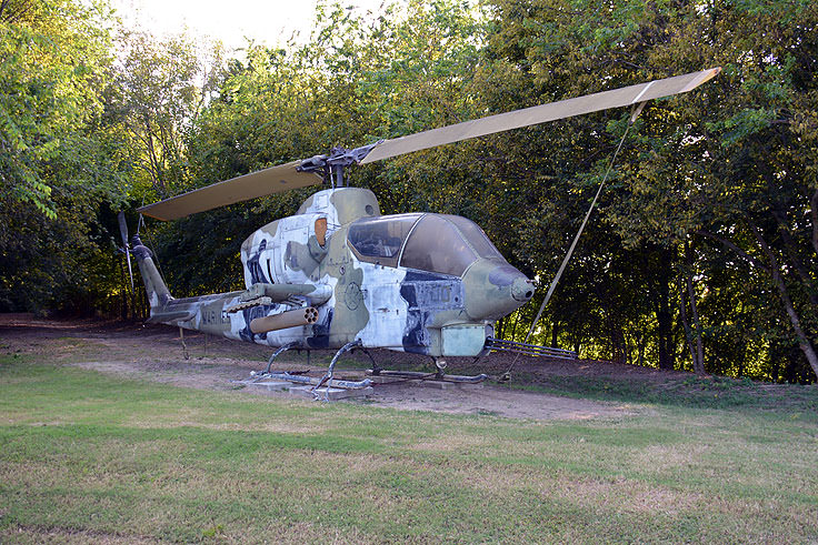 A Decommissioned attack helicopter at Patriot's point