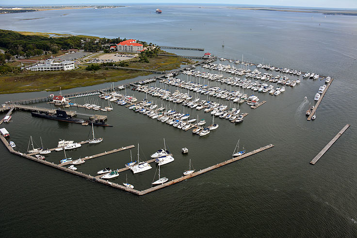 The marina at Patriot's Point in Mt. Pleasant, SC