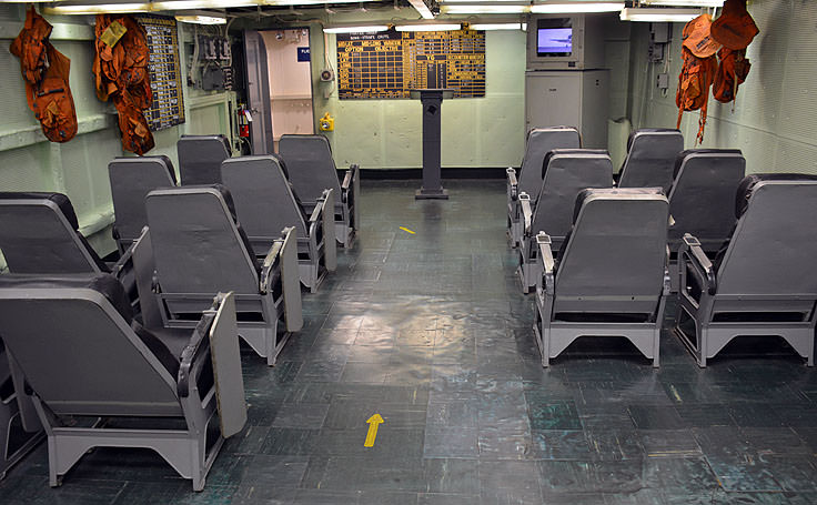 Flight brief room aboard the USS Yorktown at Patriot's Point in Mt. Pleasant, SC