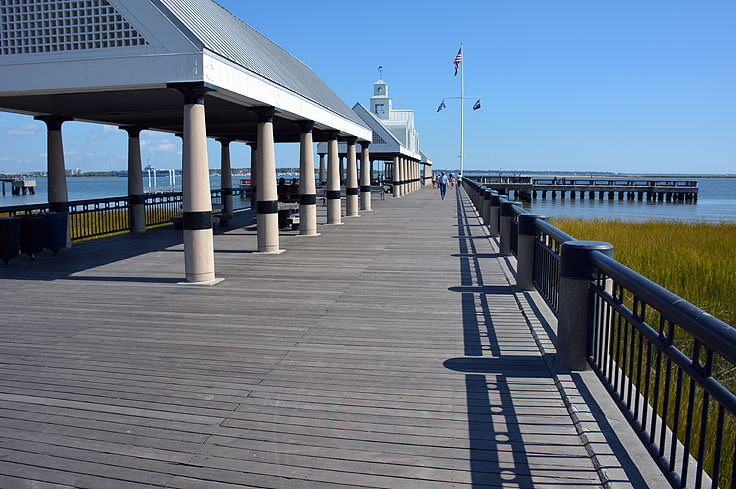 The pier at Waterfront Park in Charleston, SC