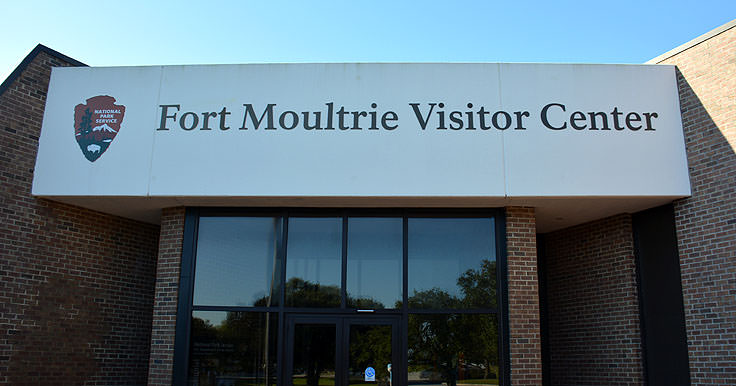 Fort Molutrie Visitor Center on Sullivan's Island, SC