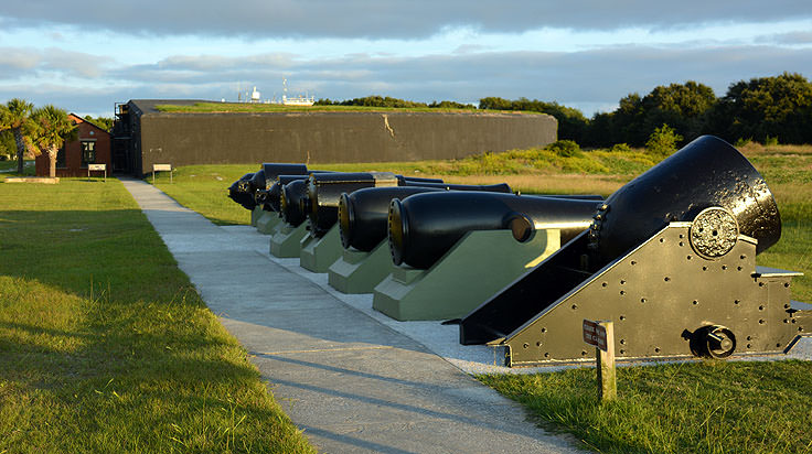 Cannons at Fort Molutrie on Sullivan's Island, SC