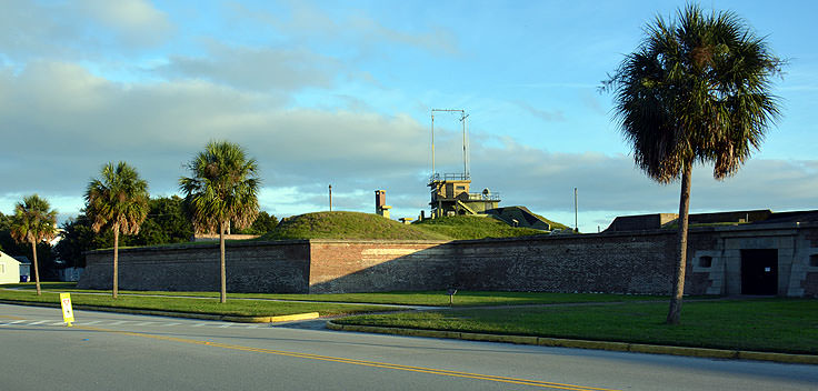 Fort Molutrie on Sullivan's Island, SC